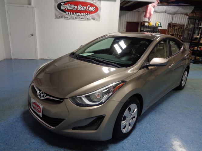 2016 BROWN Hyundai Elantra Limited (5NPDH4AE4GH) with an 1.8L L4 DOHC 16V engine, 6-Speed Automatic transmission, located at 900 East Davis Street, Conroe, TX, 77301, (936) 539-9909, 30.314880, -95.446770 - Photo #0