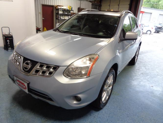 2011 BLUE NISSAN ROGUE S 2WD (JN8AS5MT0BW) with an 2.5L L4 DOHC 16V engine, CVT transmission, located at 900 East Davis Street, Conroe, TX, 77301, (936) 539-9909, 30.314880, -95.446770 - Photo #0
